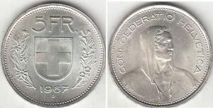 Monnaie-Suisse-5-francs-argent-1967-B