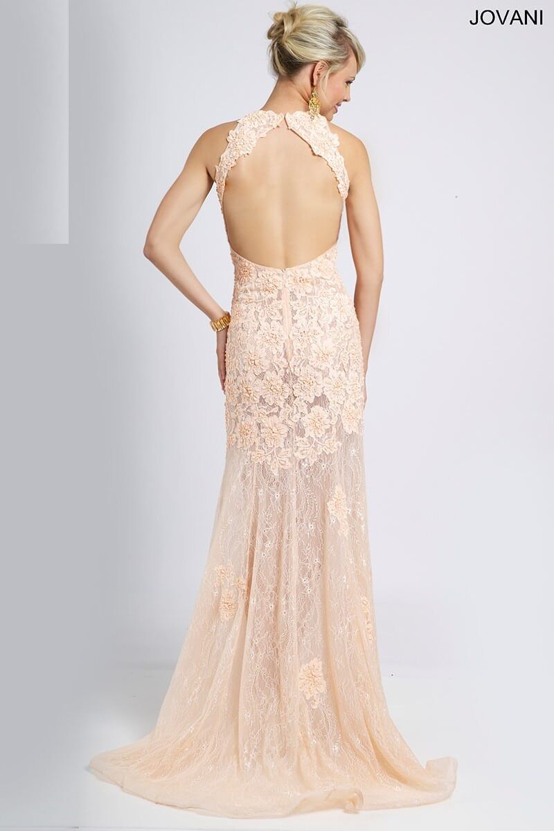 Jovani Sexy bluesh Lace Lace Lace Prom Evening Party Dress Size 2 NWT eacf7e