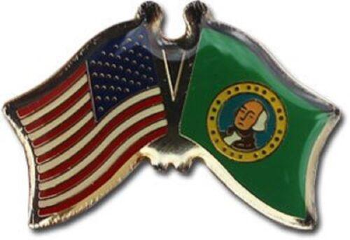 Pack of 6 USA American Washington State Friendship Flag Bike Hat Cap lapel Pin
