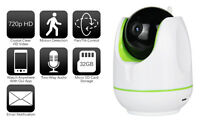 Wireless Baby Monitor Security Camera 720p Hd Wifi Or Wired Ir 30ft Night Vision