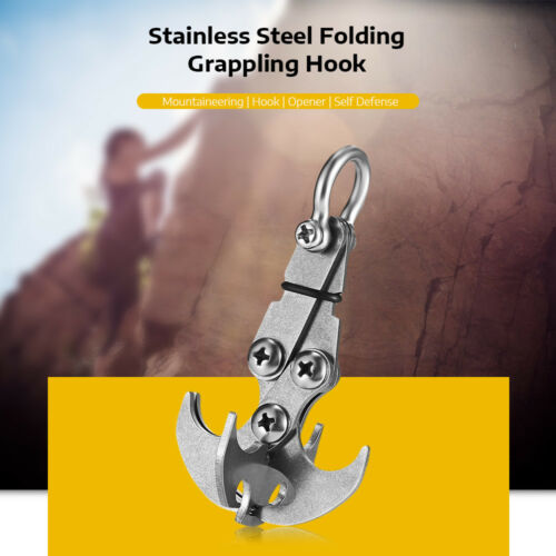 New Multifunctional Gravity Hook Grapple Tools Survival Carabiner Climbing Claws