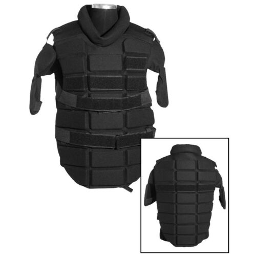 Tactical Anti-Riot Body Chest Protection Jacket Police Security Airsoft Black