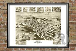 Old-Map-of-Williamsburg-PA-from-1906-Vintage-Pennsylvania-Historic-Decor