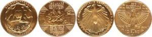Germany/Eurowährung 2x 10 Carat Hard Gilded 2013 Prfr. 49087