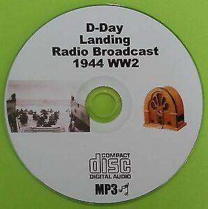 D-Day-Landing-WW2-1944-Old-Time-Radio-Broadcast-OTR-MP3-CD