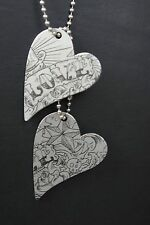 tattooed * Kette * Dog Tag Look * Rockabilly * Herze * Edelstahl Steel * Rock