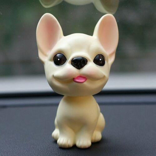 Car French Bulldog Shake Head Cute Toy  Decoration Dashboard Nodding Puppy Figur