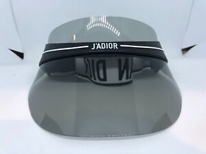 AUTHENTIC CHRISTIAN DIOR DIORCLUB1 0H3 BLACK/WHITE ADJUSTABLE DIOR VISOR