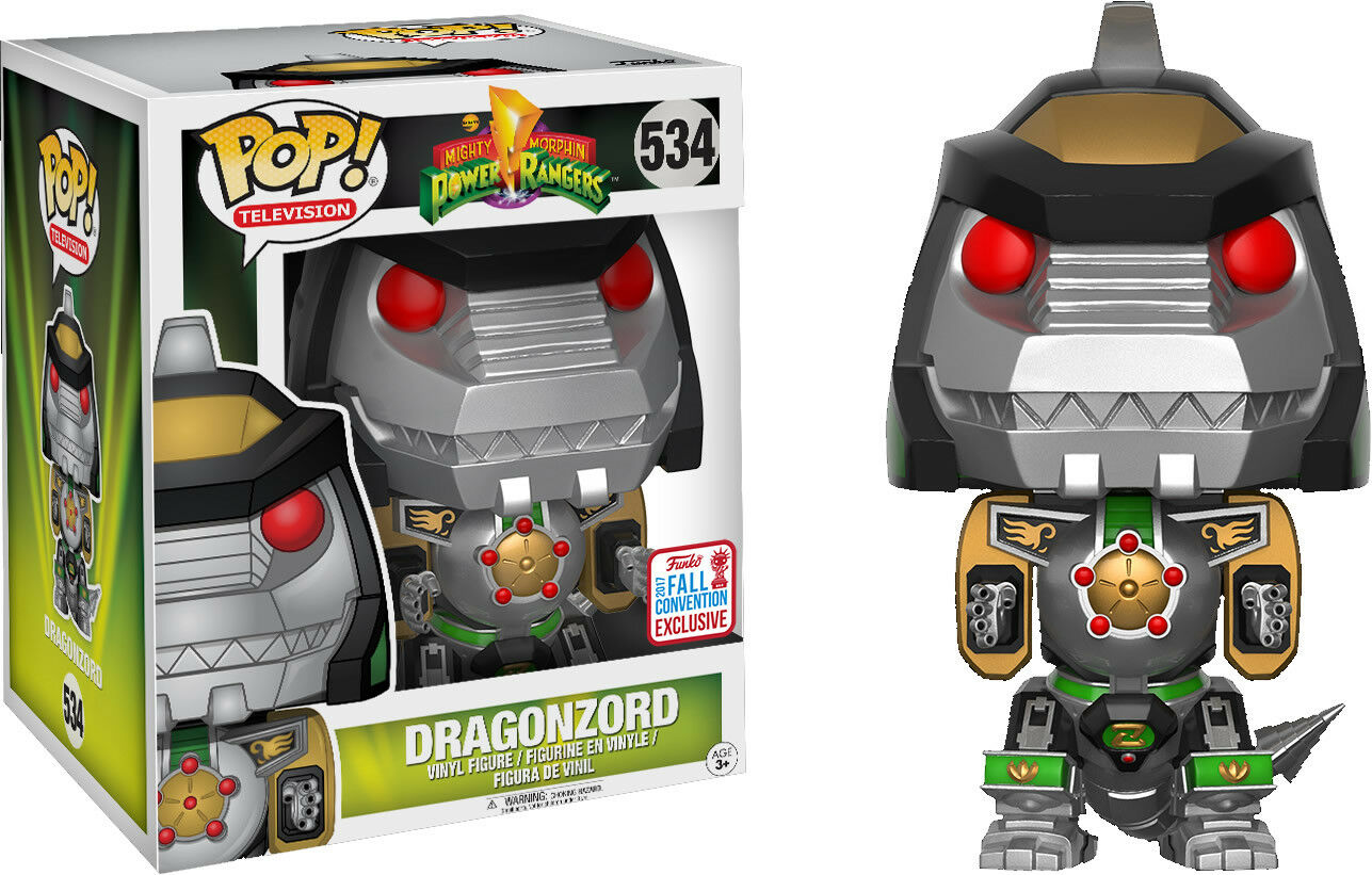 Figura Dragonzord Power Rangers New York Comic Con Funko verde verde