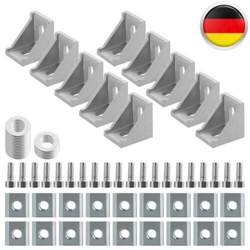 Winkel Nut 8 Aluprofil 30x30 Mit Befestigungmaterial Befestigung Satz Aluminium
