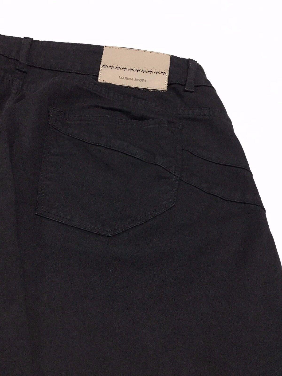 MARINA MARINA MARINA SPORT by Marina Rinaldi pantalone donna nero jeans RANCH cotone invernale 2fea8c