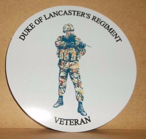 Duke of Lancaster/'s Regiment Veteran  9cm vinyl sticker personalised..