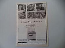 advertising Pubblicità 1966 CUCINA NAONIS MODELLO 484 LFE