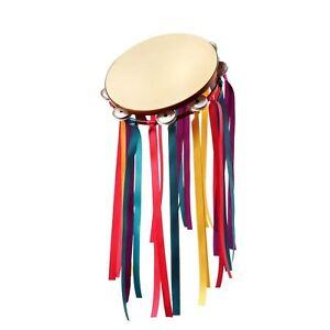 ADULTO-UOMO-DONNA-ANNI-039-60-flower-power-hippy-TAMBURELLO-STRUMENTO-MUSICALE