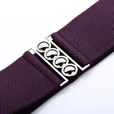 005da393c 4 Clasp Style 3 Inch Wide Elastic Corset Waist Belt womens ladies girls  fashion