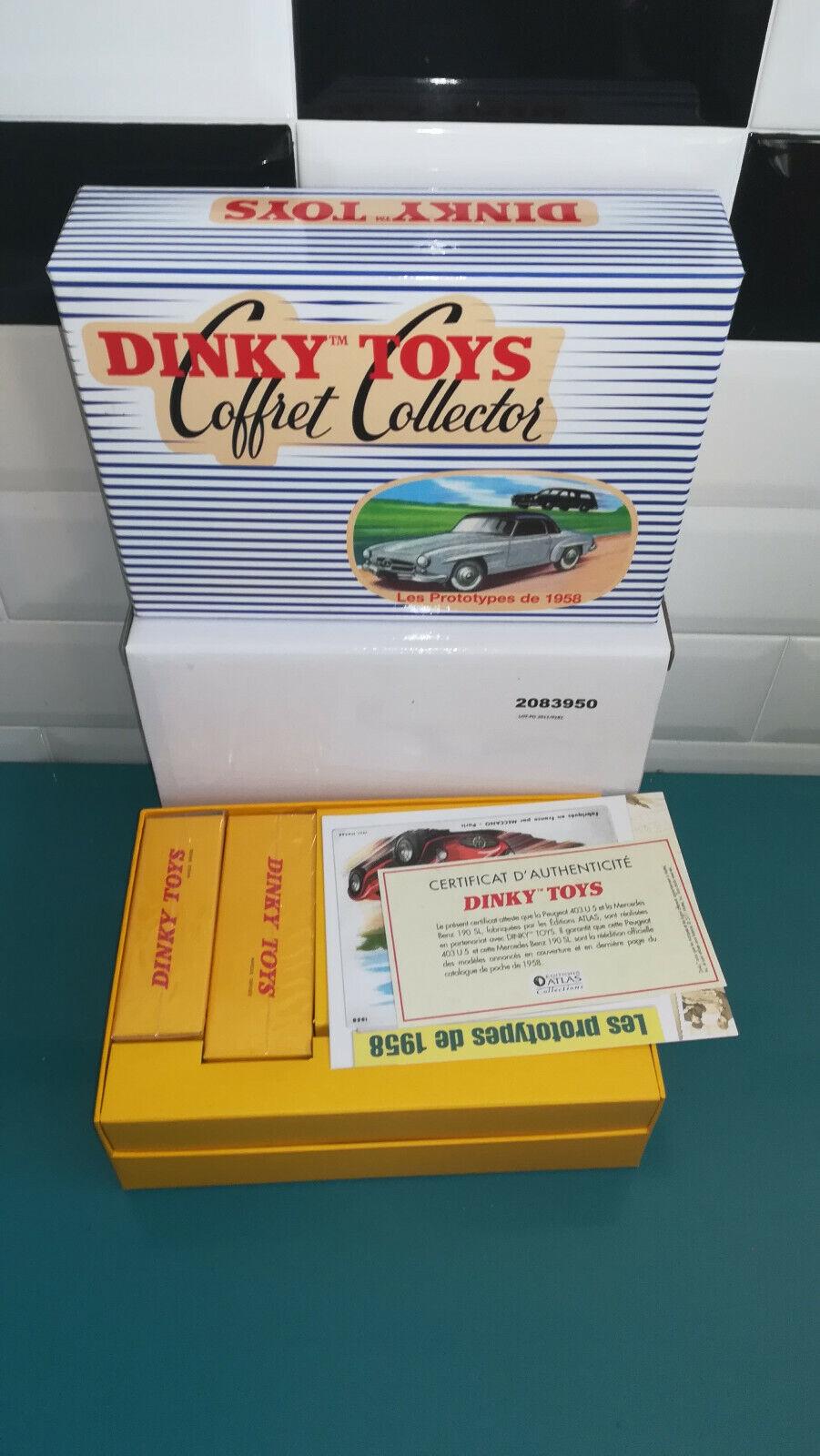DINKY TOYS ATLAS coffret collector les prougeotypes de 1958 24 FH peugeot 403