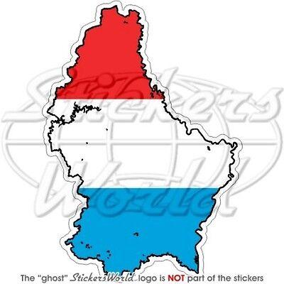 "Stickers x2 LUSSEMBURGO Letzebuerg Luxemburg Adesivi in Vinile per Auto 75mm 3/"""