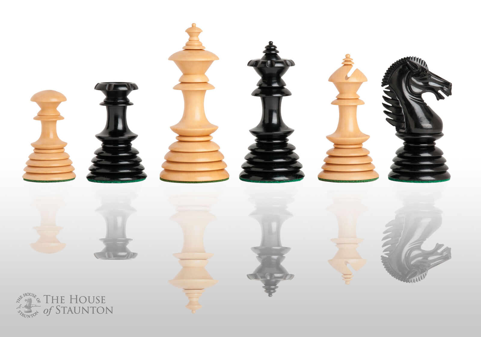 The Almeria Luxury Chess Set - Pieces Only - 4.4  King - Genuine Ebony