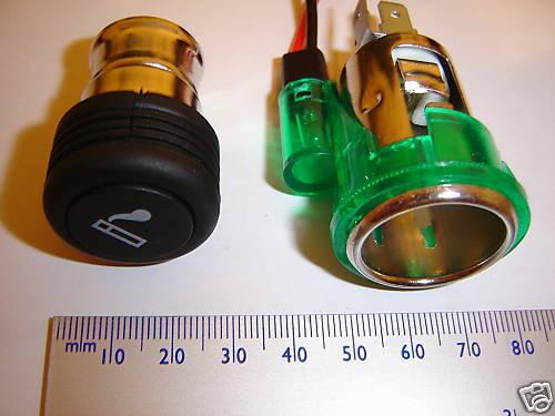 illum. plus lighter element Cigar lighter socket
