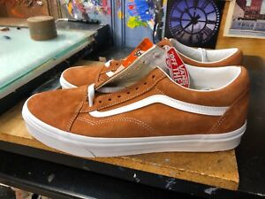 5a60f5a87f7 Vans Old Skool (Pig Suede) Leather Brown US 11.5 Men s VN0A38G1U5K ...