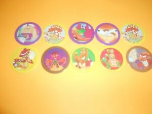 125 Pogs Pog Caps Milkcaps Flippo : Lot De 10 Hoppies
