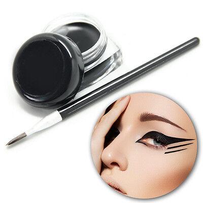 Neu Wasserdicht Augen Liner Eyeliner Lidstrich Gel Schminke Kosmetik +Schwarz