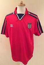 Rare Vintage England national football Soccer team jersey-UMBRO Sz XL