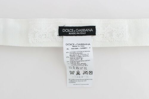 NEW $580 DOLCE /& GABBANA White Crystal Stones Waist Belt s One size 1m Long
