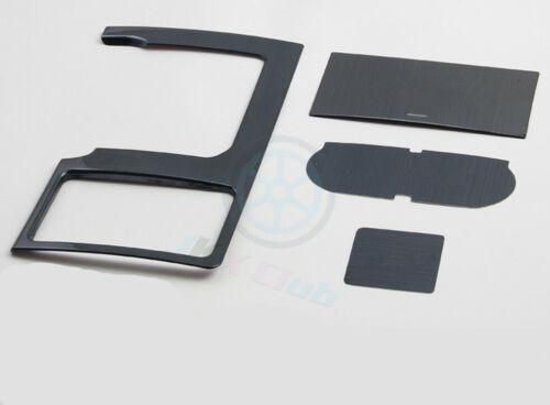 Black titanium Gear Shift Panel Frame Trim o For Toyota Prado FJ150 2010-2018