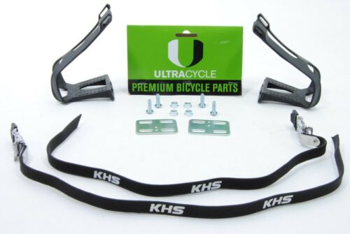 Ultracycle MTB Toe Clips With Straps Large