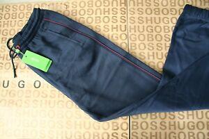 Nuevo-Pantalon-de-chandal-azul-Hugo-Boss-De-Hombre-Pantalon-Pantalones-Deportivos-Pantalones-chandal