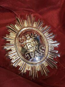 Charitas Stemma San Francesco Di Paola  Ottone 8x6 Cm Carità bagno argento