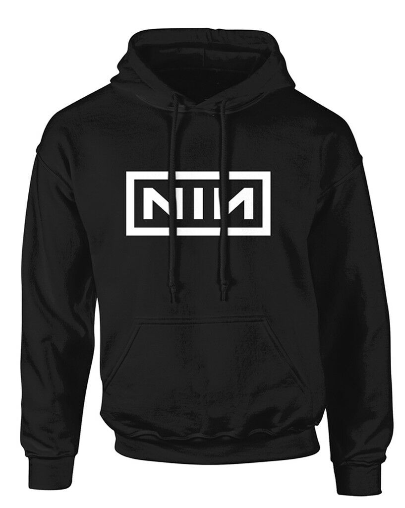 Nine Inch Nails 'Classic Weiß Logo' Pullover Hoodie - NEW & OFFICIAL