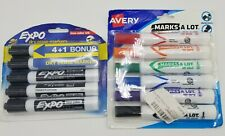 Lot Of Expo And Avery Dry Erase Markers Black Amp Various Colors New