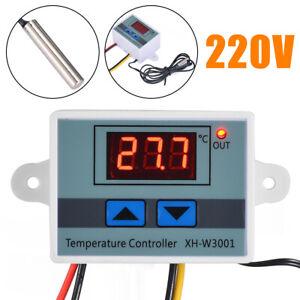 AC-220V-Digital-Temperaturregler-Thermostat-LED-Control-Temperatur-Regler