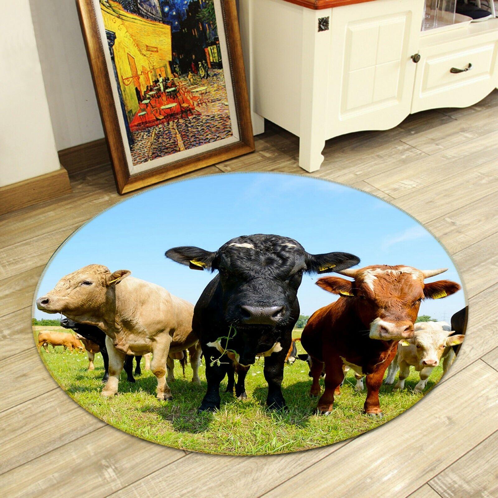 3D PRATI SKY BOVINI C32 ANIMALI tappetino antiscivolo tappeto rossoondo elegante Tappeto Wendy