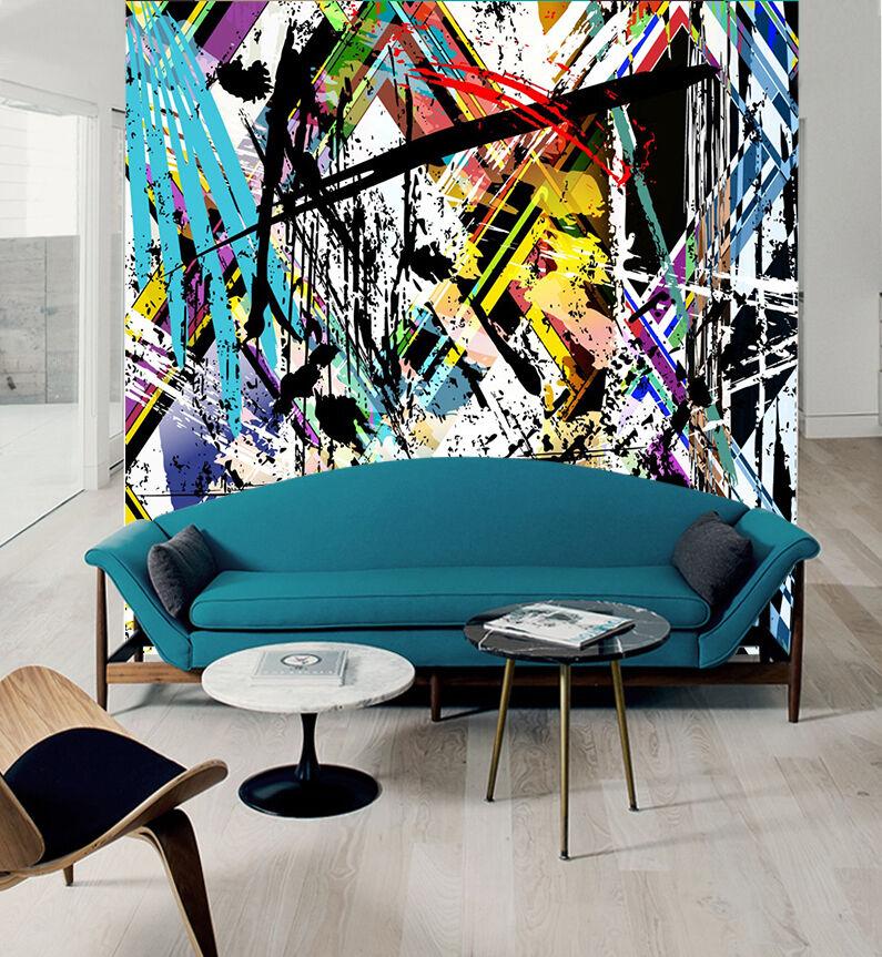 3D Farbe Graffiti 834 Wallpaper Mural Paper Wall Print Wallpaper Murals UK