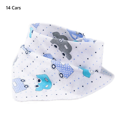 Soft Baby Bibs Waterproof Triangle Scarf Cotton Feeding Saliva Towel