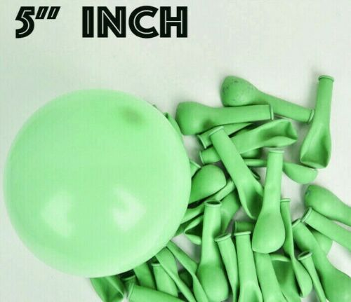 """10-500 Quality Pastel Finish 5/"""" INCH Small Round Latex Balloons Choose Colour"""