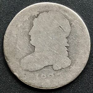 1827 Capped Bust Dime 10c Rare Early Date Circulated #6220 - Deutschland - 1827 Capped Bust Dime 10c Rare Early Date Circulated #6220 - Deutschland