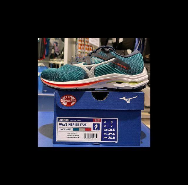 Mizuno Wave Inspire 17 Wide Men's Running Shoes Green / Grey/ red J1GC214533 21L