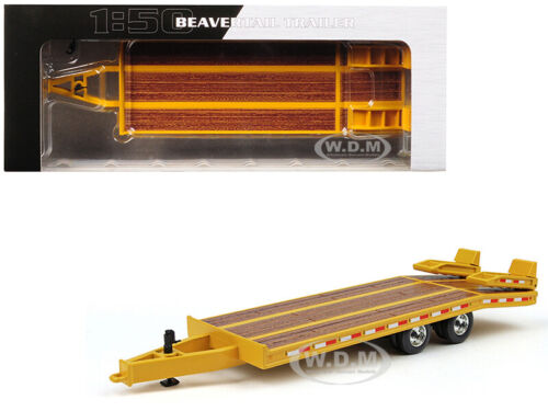 BEAVERTAIL TRAILER YELLOW 1/50 DIECAST MODEL BY FIRST GEAR 50-3237