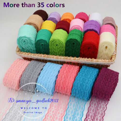 12-300 Yards Bilateral Handicrafts Embroidered Net Lace Trim Ribbon FL01 Lots