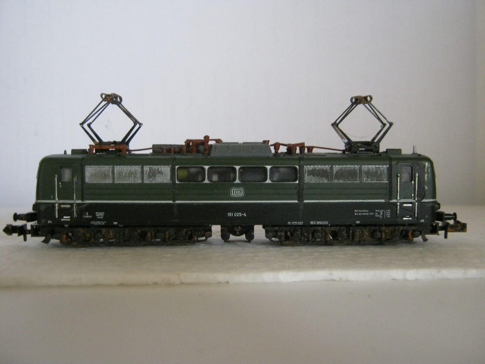 Minitrix N 2056 Elektro Lok BR 151 151 151 025-4 DB grün (RG AE 49L36-1)  | Optimaler Preis  eeaf05
