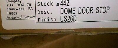 5MM22 SET OF 6 ROCKWOOD DOME DOOR STOP (FLOOR TYPE), BRUSHED ALUMINUM, #442