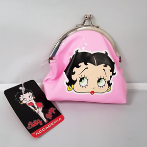Girls-Pink-Official-Betty-Boop-Purse-Metal-Clasp-Coin-Holder-Ladies-Wallet