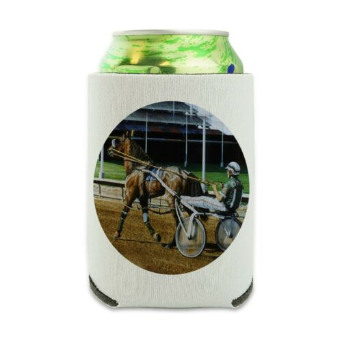 Harness Racing Track Horse Racer Can Cooler Drink Hugger Insulated Holder