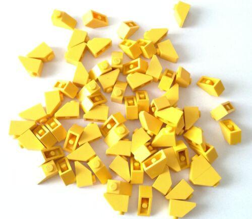 LEGO 65X BRICK SLOPE CURVI INCLINATI 1X2 GIALLO LOTTO SPED GRATIS SU ACQUISTI