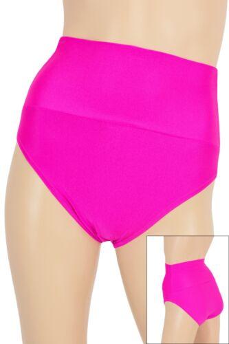 Damen High-Waist Slip hauteng elastisch stretch shiny viele Farben S bis XXL
