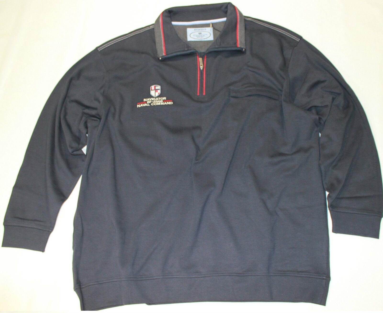 15021 ROTFIELD Troyer Kragen Sweatshirt in Übergröße 4XL 5XL 6XL 7XL